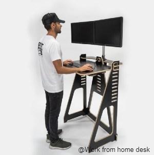 Black WFH Desk