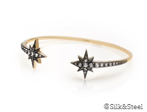 SUPERSTAR / WHITE TOPAZ + GOLD / BRACELET