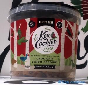 Kea Cookies – Bite size Choc Chip and Lemon Coconut – 550g bucket