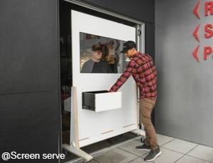 Safe store screens for staff and customers