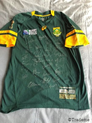 South Africa signed rugby commemorative jersey RWC2015
