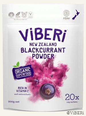 Organic Blackcurrant Powder 200g (20x Sachets)